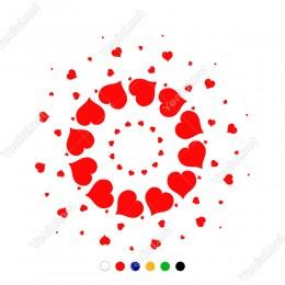 14 Şubat Sevgililer Günü Döngü İçinde Kalpler Sticker
