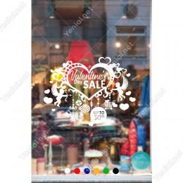14 Şubat Sevgililer Günü Sevgiler Güne Özel İndirim Sticker