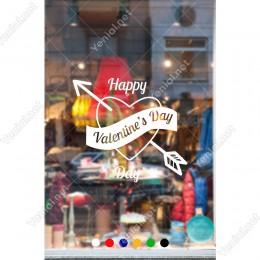 Sevgililer Günü İçin Happy Valentine's Day Yazısı Sticker