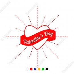Sevgililer Günü İçin Valentine's Day Yazısı Sticker