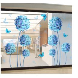 Çiçekçilere Özel Renkli Çiçek Dekorasyon  Cam Vitrin Sticker Yapıştırma