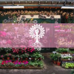 Kişiye Çiçekçilere Güç Ağacı Sticker Yapıştırma
