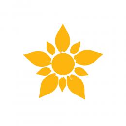 Kişiye Çiçekçilere Özel Açılmış Papatya Sticker Yapıştırma