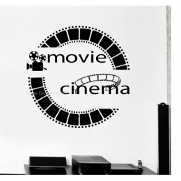 Film Cinema Addicts  Stickerı  115x50cm