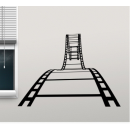 Film Şeridi Ev Sineması  Stickerı  115x50cm