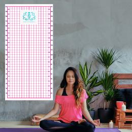 Firmaya Özel Yoga ve Plates Postür Tablosu Duvar Yapıştırma Pembe Renk  200x100cm