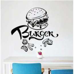 Burger Fast Food  Duvar Stickerı