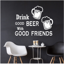 Good Beer Drink & Good Friends  Duvar Stickerı