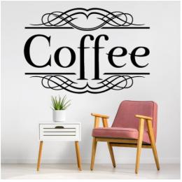 Kafe ve Restoranlara Özel  Coffee Yazısı Cam Vitrin Sticker Yapıştırma