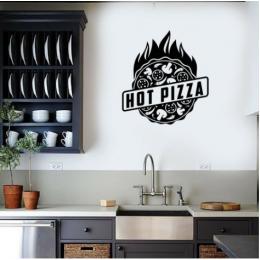 Sıcak Pizza İşareti Duvar Stickerı