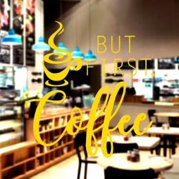 Kafe ve Restoranlara Özel Firma Salon Mesken Cam Vitrin Sticker Yapıştırma
