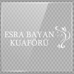 Kişiye Berberlere Kuaförlere Özel Firma Esra KuaförCam Sticker Yapıştırma
