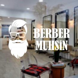 Kişiye Berberlere Kuaförlere Özel Firma Kuaför Muhsin Cam Sticker Yapıştırma