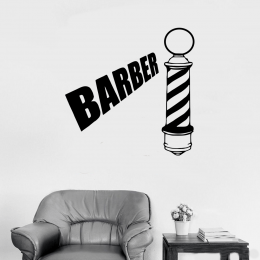 Kişiye Berberlere Özel Barber Vinily Sticker Yapıştırma