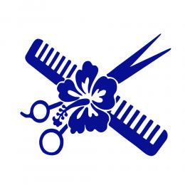 Kişiye Berberlere Özel Çicek Ve Makas Sticker Yapıştırma