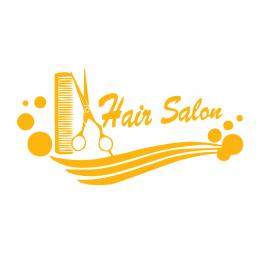 Kişiye Berberlere Özel Çizgili Hair Salon Deseni Sticker Yapıştırma
