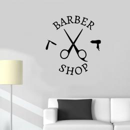 Kişiye Berberlere Özel Fön Ustura Barber Shop Sticker Yapıştırma