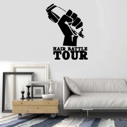 Kişiye Berberlere Özel Hair Batttle Tour Sticker Yapıştırma