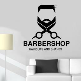 Kişiye Berberlere Özel Haircuts And Shaves Sticker Yapıştırma