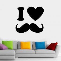 Kişiye Berberlere Özel I Love Beard Sticker Yapıştırma