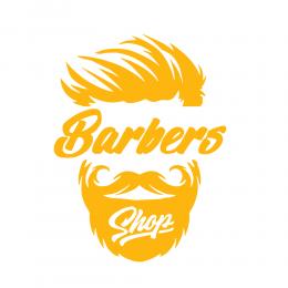 Kişiye Berberlere Özel İnsan Silüeti Barber Shop Sticker Yapıştırma