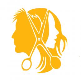 Kişiye Berberlere Özel Kadın Ve Erkek Silüeti Sticker Yapıştırma