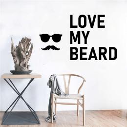 Kişiye Berberlere Özel Love My Beard Sticker Yapıştırma