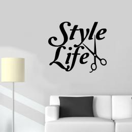 Kişiye Berberlere Özel Style Life Sticker Yapıştırma