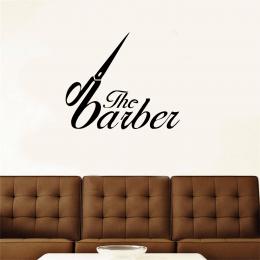 Kişiye Berberlere Özel The Barber Yazısı Sticker Yapıştırma