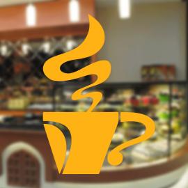 Fırın Ve Pastanelere Özel Bir Bardak Kahve Yapıştırma