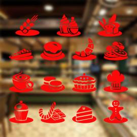 Fırın Ve Pastanelere Özel Çörek Çeşitleri Sticker Yapıştırma