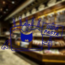 Fırın Ve Pastanelere Özel Firma Mor Pasta Sticker Yapıştırma