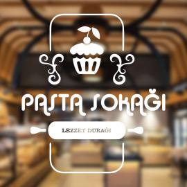 Fırın Ve Pastanelere Özel Firma Pasta Sokağı Sticker Yapıştırma