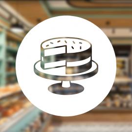 Fırın Ve Pastanelere Özel Kesilmiş Pasta Sticker Yapıştırma