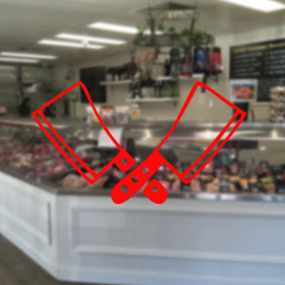 Kasap Ve Steak Houselara Özel Çift Satır Sticker Yapıştırma