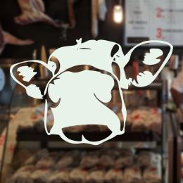 Kasap Ve Steak Houselara Özel İnek Yüzü Sticker Yapıştırma