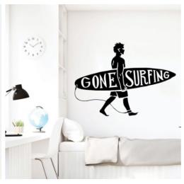 Gone Surfing Yazısı Spor Salonu Duvar Stickerı