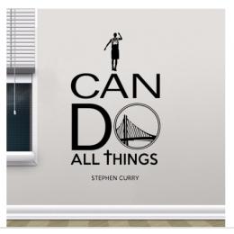 Stephen Curry Yazısı Spor Salonu Duvar Stickerı