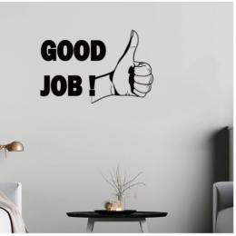 Good Job Yazısı Spor Salonu Duvar Stickerı