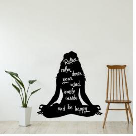 Kadın Yoga Yazısı Spor Salonu Duvar Stickerı