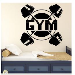 Yüzen Genç Your Name Yazısı Spor Salonu Duvar Stickerı