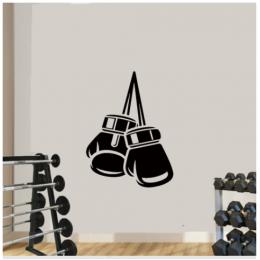 Spor Boks Eldiven Yazısı Spor Salonu Duvar Stickerı