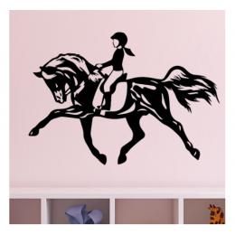 At Binicisi Çocuk  Yazısı Spor Salonu Duvar Stickerı