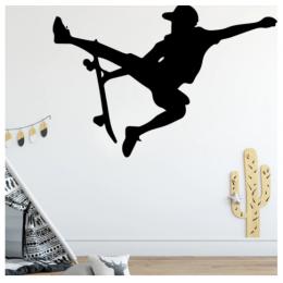 Kaykaycı Çocuk  Yazısı Spor Salonu Duvar Stickerı