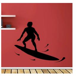 Su Kayağı  Yazısı Spor Salonu Duvar Stickerı