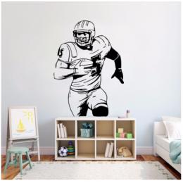 American Football Yazısı Spor Salonu Duvar Stickerı