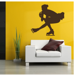 Artistik Buz Pateni  Yazısı Spor Salonu Duvar Stickerı