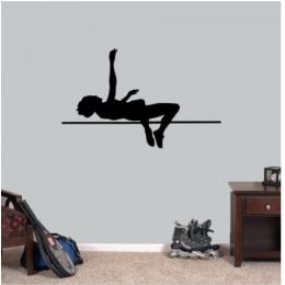 Yüksek Jumper Oyuncusu Yazısı Spor Salonu Duvar Stickerı