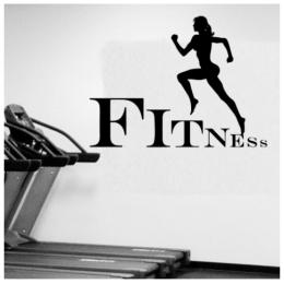 Fitness Kadın Yazısı Spor Salonu Duvar Stickerı