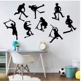 8 dublör Scooter Yazısı Spor Salonu Duvar Stickerı